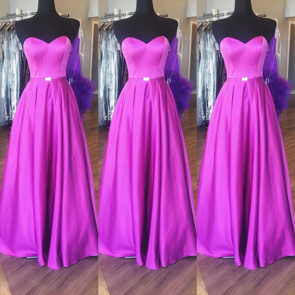 Purple Sweetheart Prom Dresses Wedd | Sencillo, Vestidos para fiesta ...