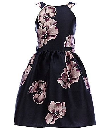 f919da682 Poppies and Roses Big Girls 7-16 Floral Skater Dress