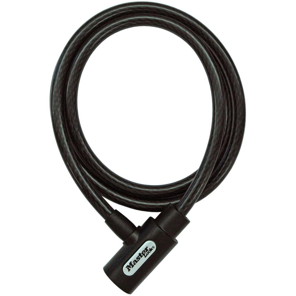 Master Lock 5 Ft Braided Steel Cable With Integrated Keyed Lock 8364dcc Home Depot Cable Master
