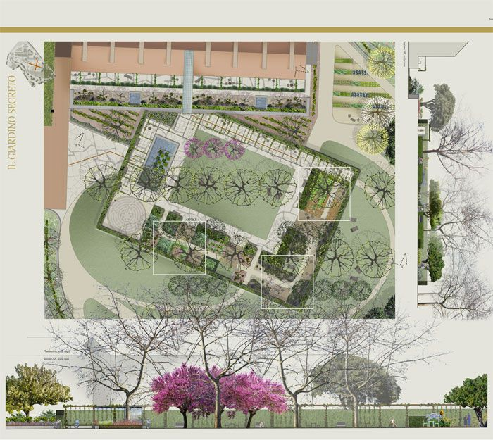 Healing Garden For A Hospital In Italy Healing Garden Design Healing Garden Landscape Plans