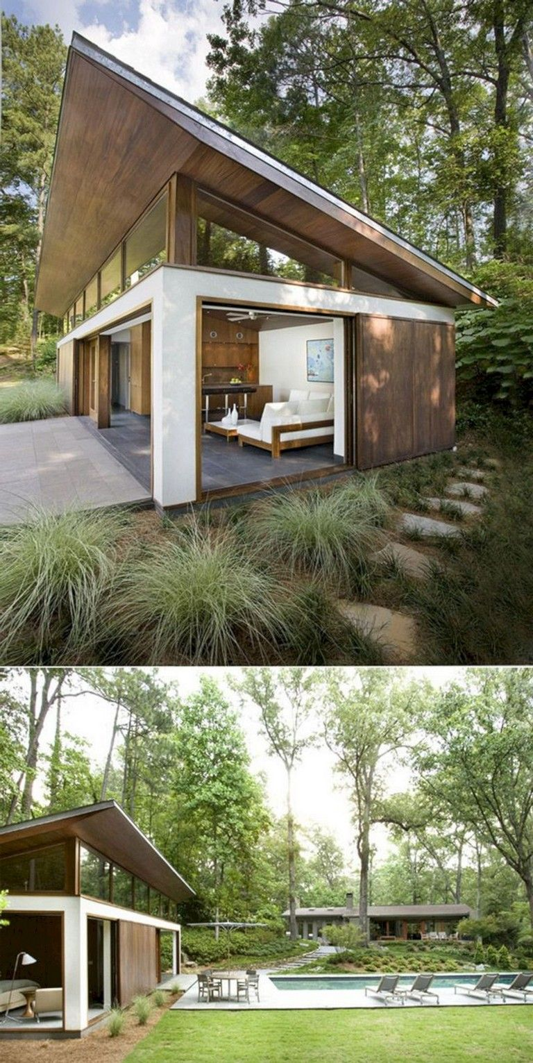 Focusing On Views With A Modern Addition To An Old House: 134+ Gorgeous Modern Tiny House Design And Small Homes Collections