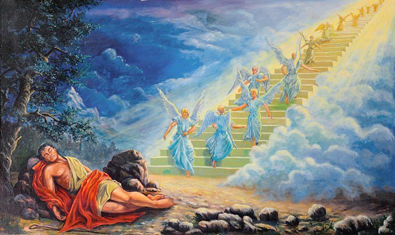 Jacob's Dream by Vladimir Bibikov | Jacob's ladder, Dream painting, Image