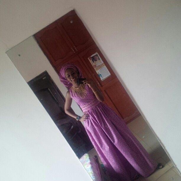 Ankara flowing gown