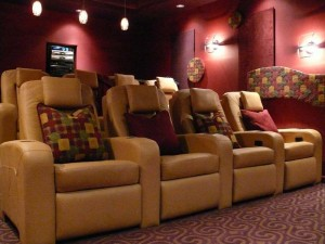 Captivating Home Theater Interior Decorations for Cheap Movie Room ...
