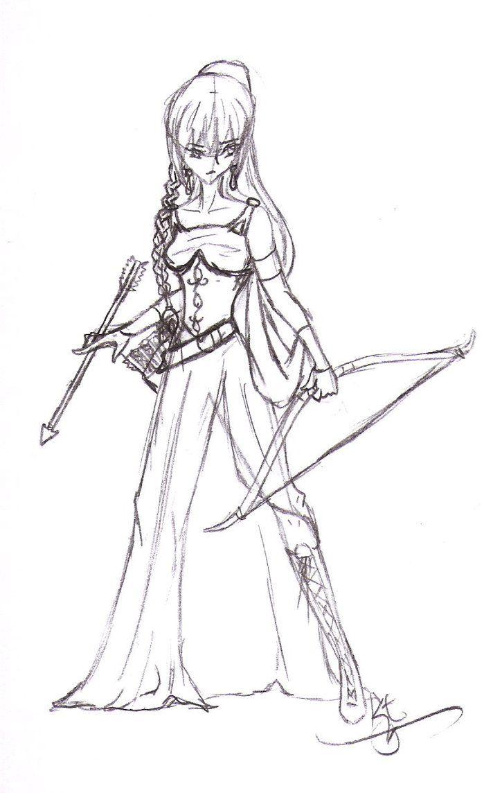 Cool Female Warrior Line Art Bing Images Anime Wolf Girl Warrior Girl Warrior Woman