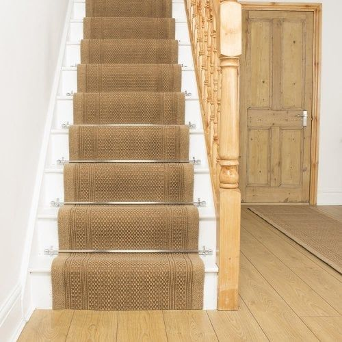 Best Aztec Beige Stair Runner Carpet Stairs Carpet Size 400 x 300