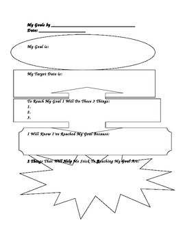 Setting Goals Worksheets For Students: Goal Setting Worksheet For Students Photos   Beatlesblogcarnival,