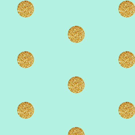 Colorful Fabrics Digitally Printed By Spoonflower Gold Glitter Dots On Mint Polka Dots Wallpaper Gold Wallpaper Pattern Glitter Phone Wallpaper
