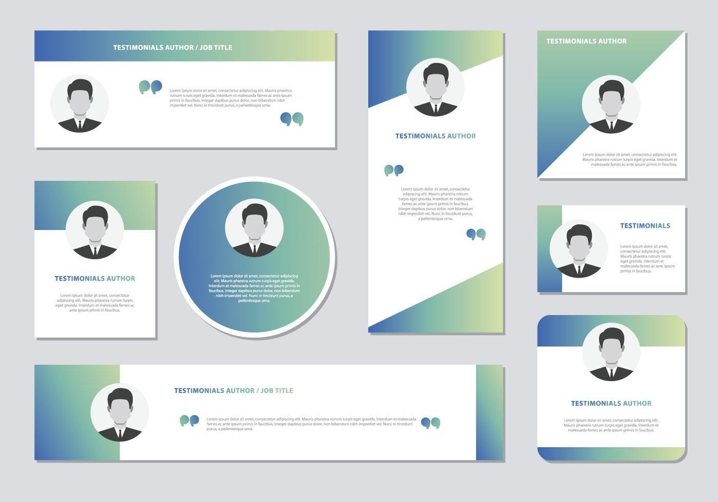 Website Testimonials Box Template Vector Testimonials Web Design Testimonials Design Web Design Trends Inspiration