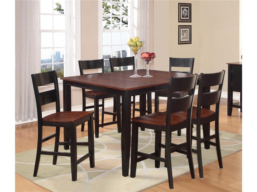 Holland House Dining Room Cherry And Black Pub Set 485884
