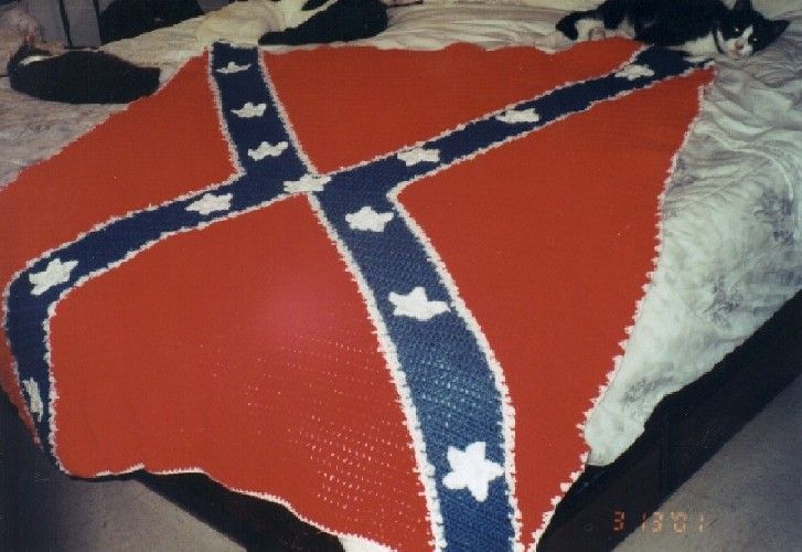 Confederate Flag Afghan I Want Pinterest Afghans Flags And