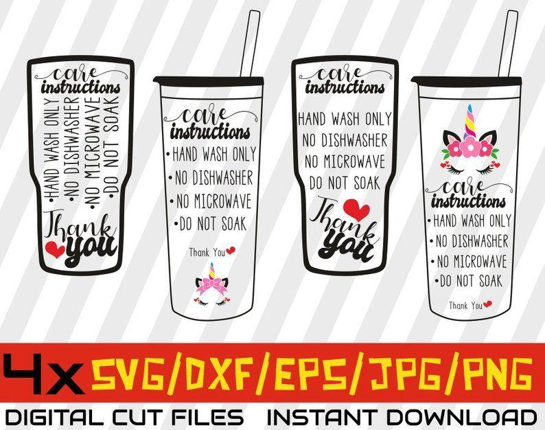 4x cup care bundle svg  care instruction cards  coffee cup svg  mug svg  pringitng  washing