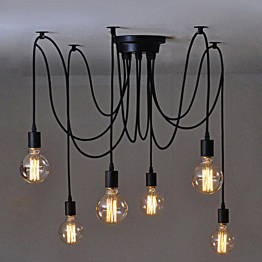 dining led loft spider chandelier country wrought expansion bar room bedroom rustic iron lamp chandeliers pendant industrial product study blue fashion