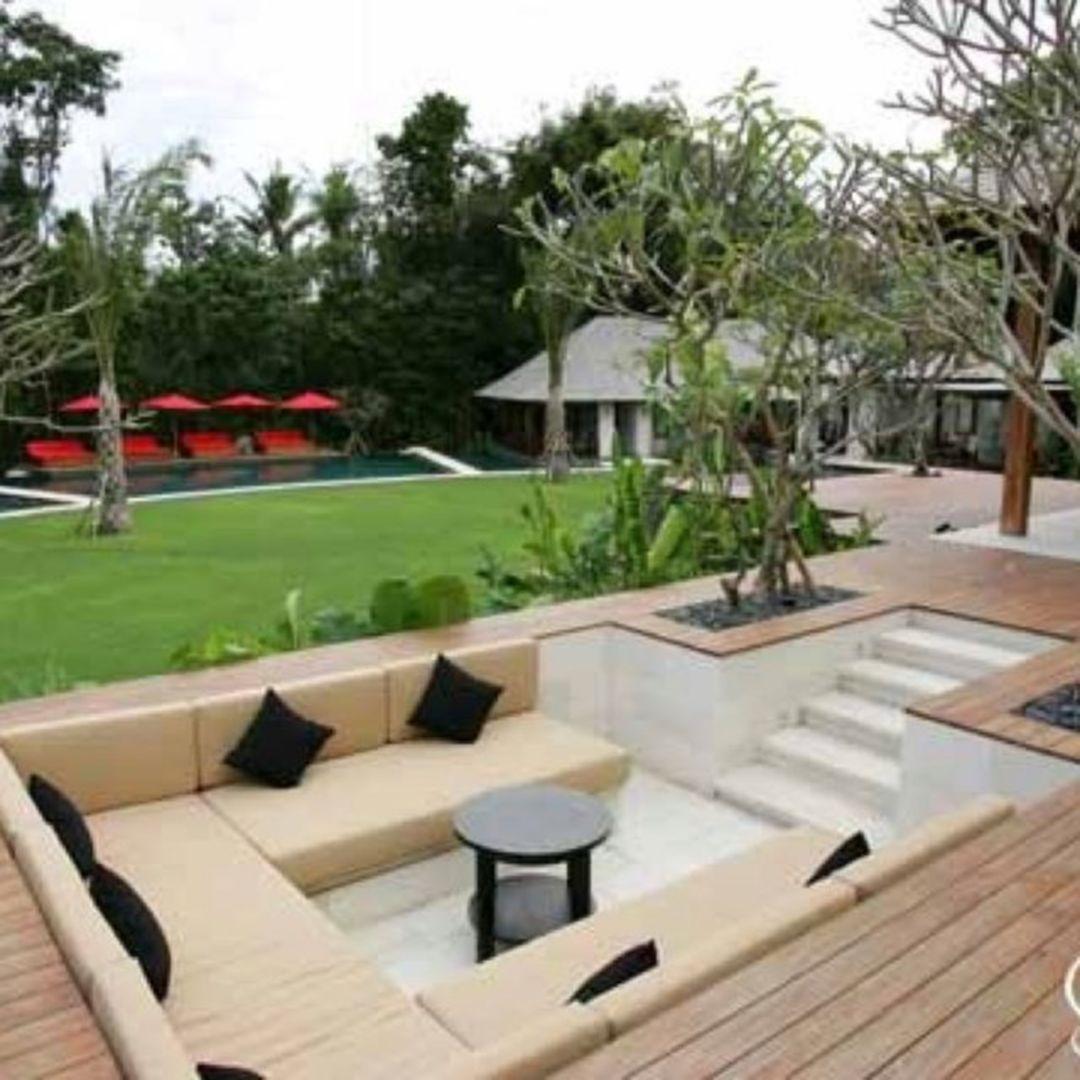 Cool 25 Gorgeous Sunken Patio With Sitting Areas Ideas Https Hroomy Com Outdoor Space 25 Gorgeous Sunken Pat Garden Seating Area Backyard Patio Sunken Patio