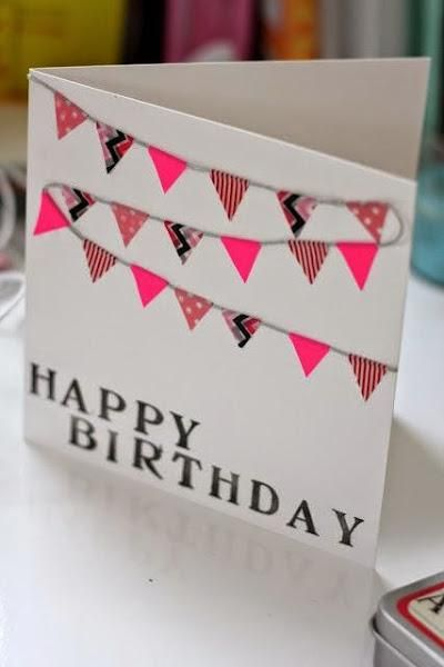 C mo hacer una tarjeta de felicitaci n con washi tape - Ideas para hacer en un cumpleanos ...