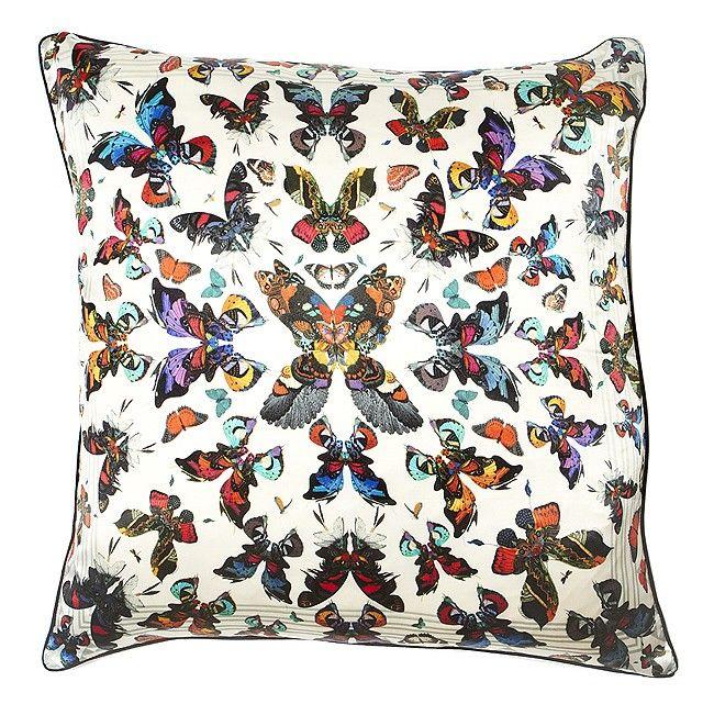 Kaleidoscope Butterfly Cushion by Kristjana S. Williams