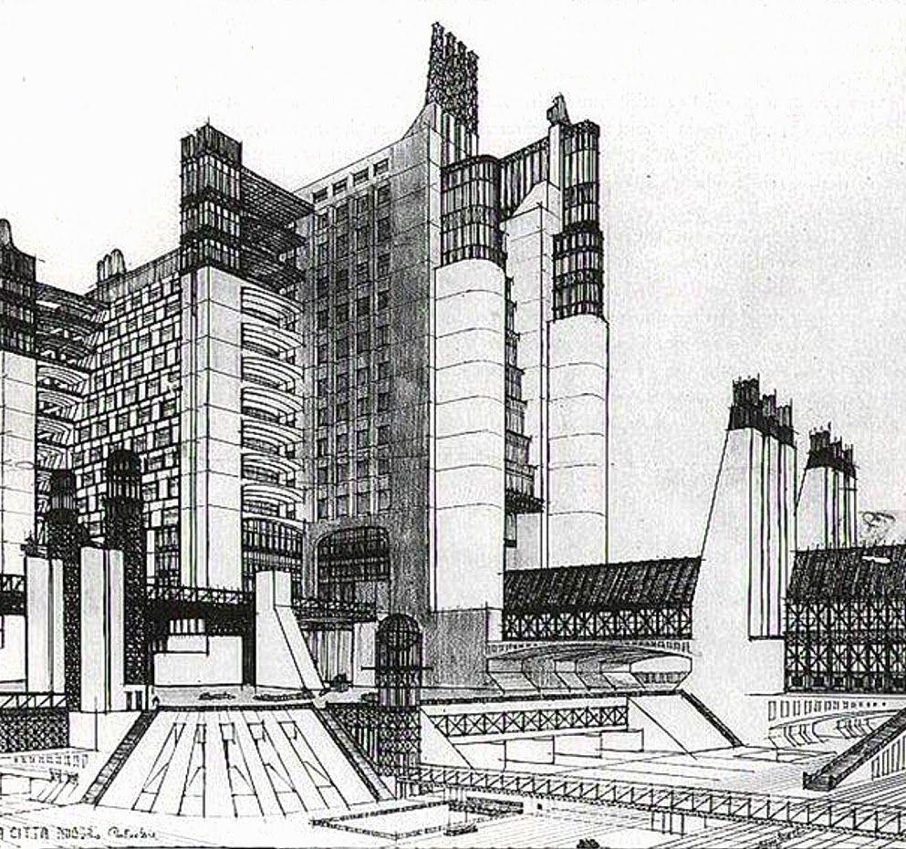 Ciudad Nueva Arquitectura Futurista Arquitectura Futurismo