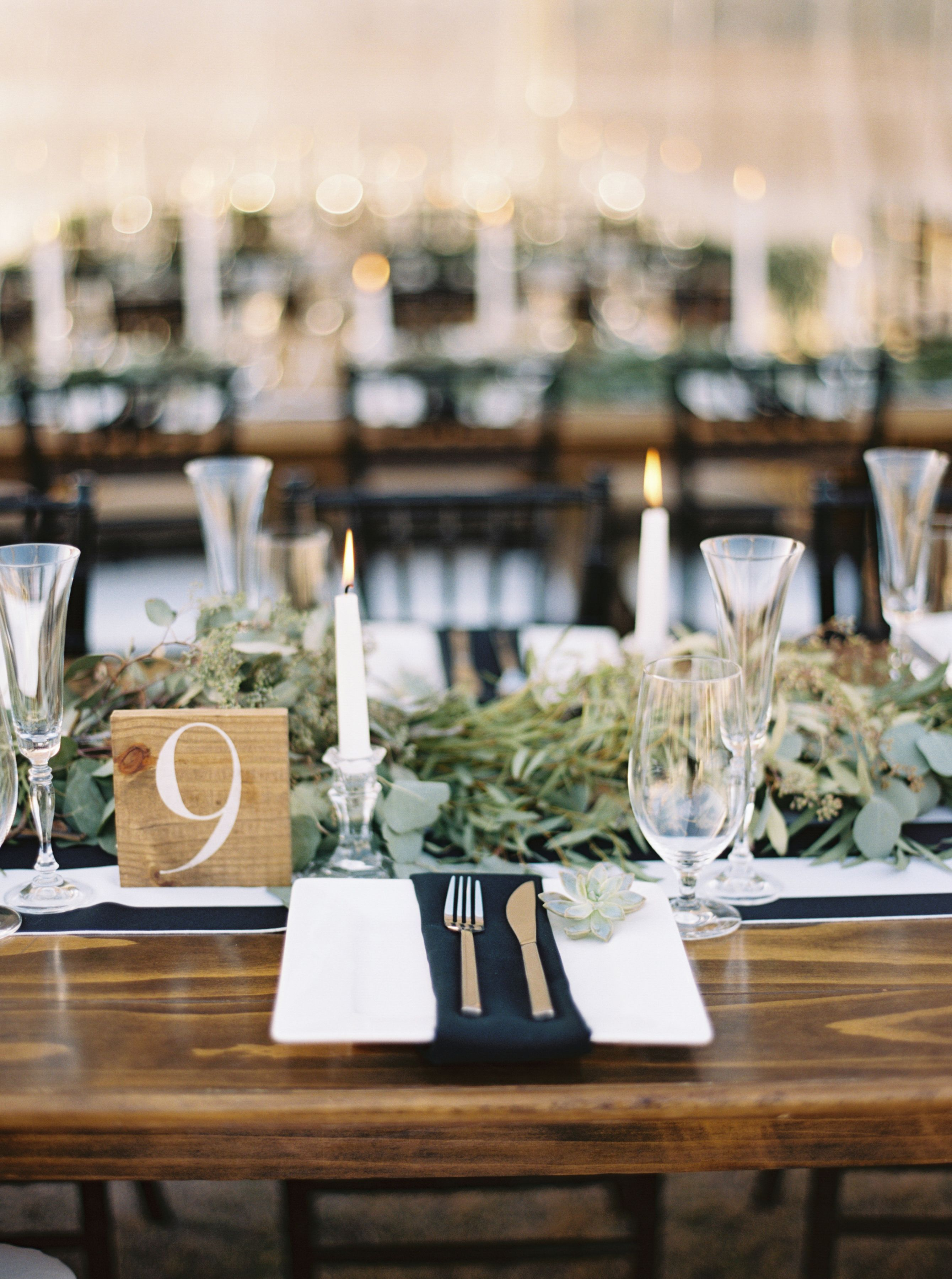 A great rustic table set up for your wedding! Rustic