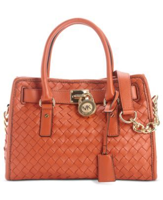Michael Kors Handbag Hamilton Woven Satchel All Handbags Accessories