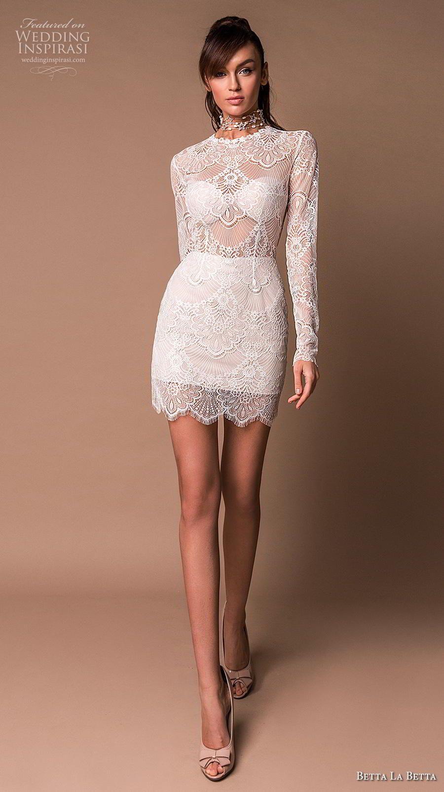 Betta La Betta 2020 Wedding Dresses Primavera Bridal Collection Wedding Inspirasi Short Wedding Dress Mini Wedding Dresses Civil Wedding Dresses [ 1604 x 900 Pixel ]