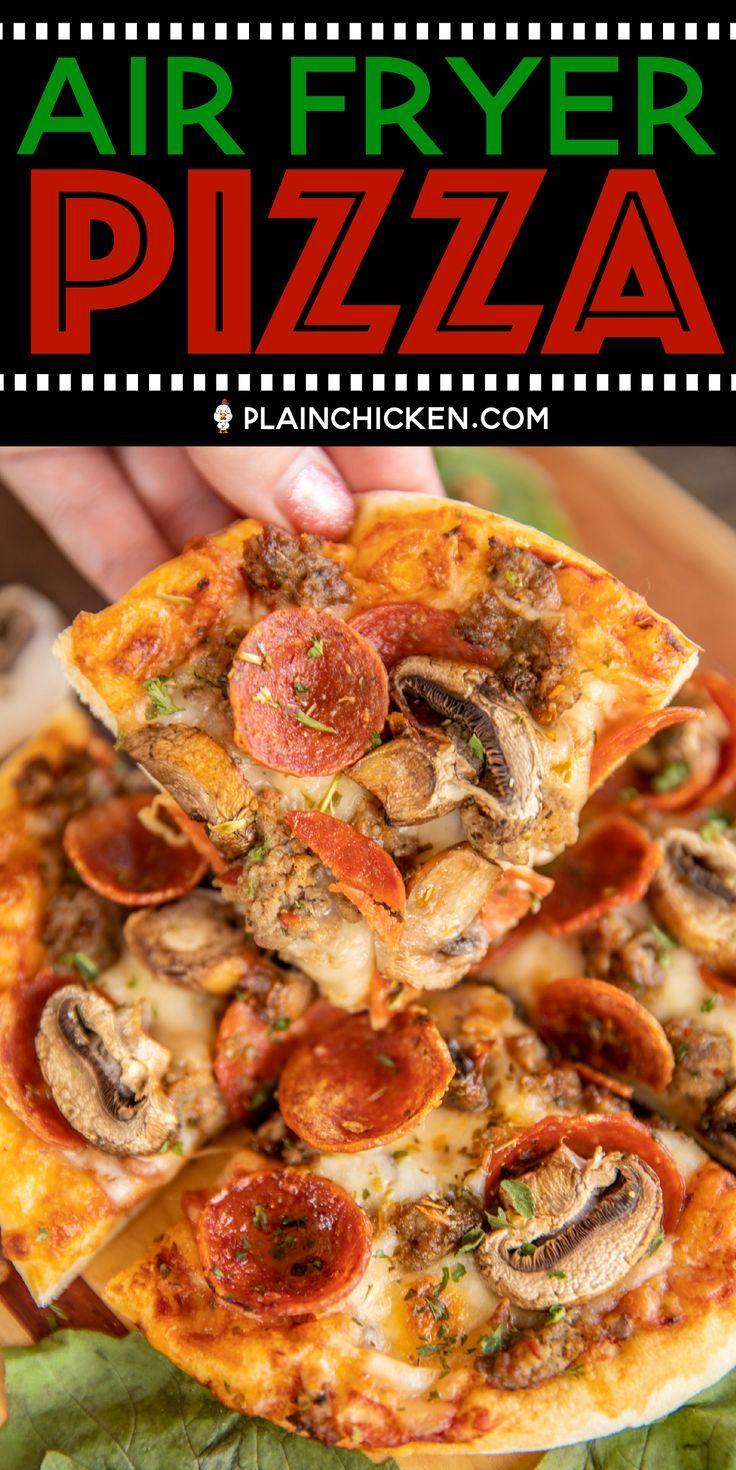 Air Fryer Pizza - Plain Chicken