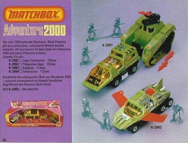 Vintage Matchbox Adventure 2000 Toy Vehicle(s)   Retro ...