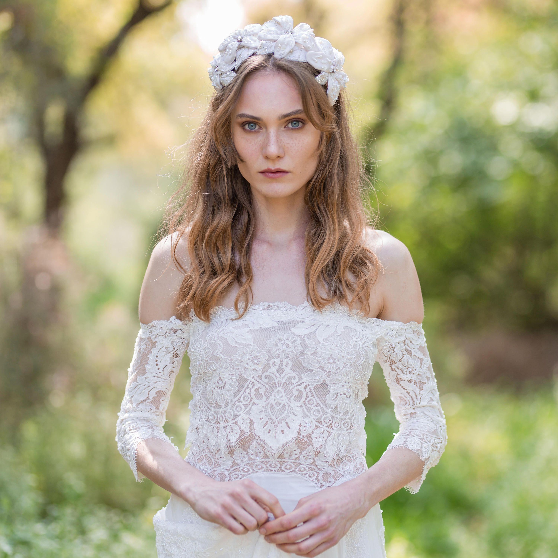 Wedding dress boho dress lace wedding dress lace gown beach