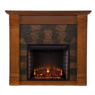 Neubold Home Elkmont Electric Fireplace On Sale At Shophq Com Oak Electric Fireplace Contemporary Electric Fireplace Faux Stone Electric Fireplace