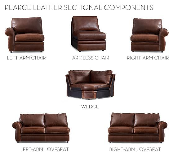 Build Your Own Pearce Leather Sectional Components Leather Sectional Build Your Own Sectional Leather Couch Sectional
