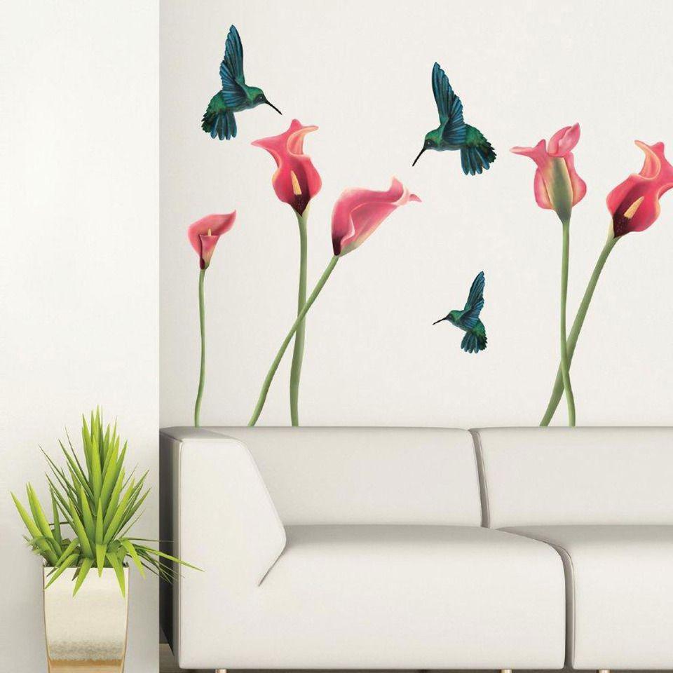 Art Applique By Kmg Humming Birds Decorative Wall Decal Bird