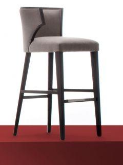 Natural Fabric Curved Wenge Bar Stool Bar Stools Bar Chairs Stool