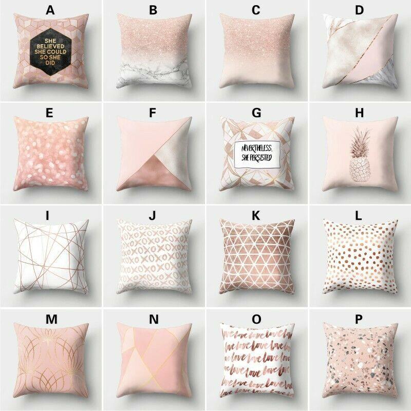 Pillow Case Rose Gold Shining Printed Sofa Cushion Cover Pillowcase Home Decor Fashion Home Garden Homedcor Pillows Ebay Link Home Decor In 2019 Cus