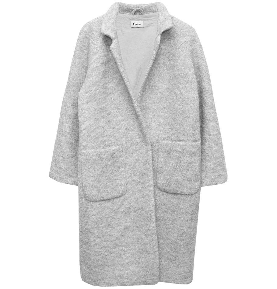 Ganni Oversized Wool Coat