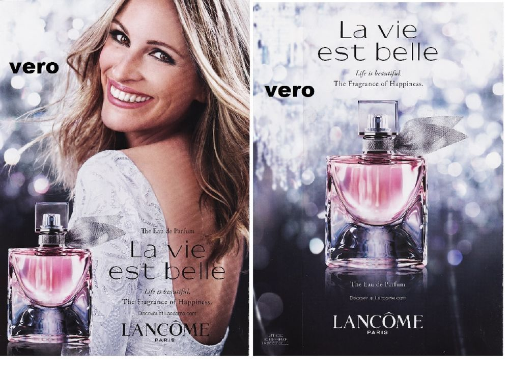 Lancome 2015 Print Ad Parfum Perfume Cologne La Vie Est
