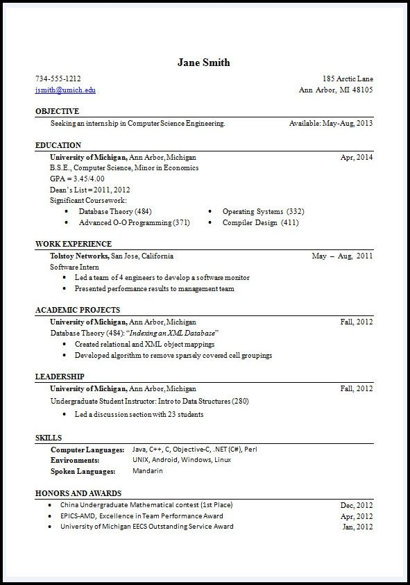 resume format examples best sample proper header and Home Design - proper format for a resume