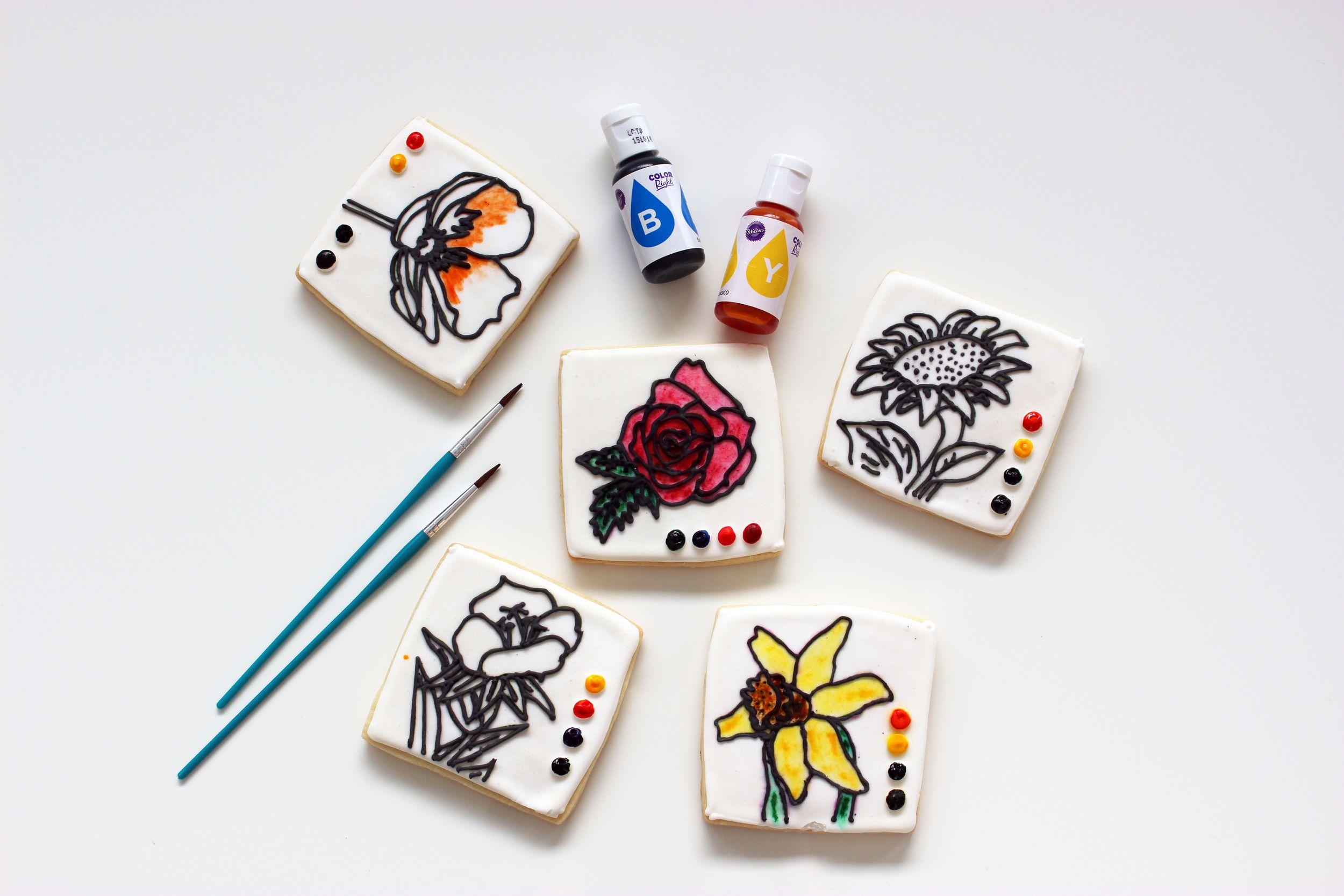 Coloring Book Cookies | Cookie Tutorials & Ideas | Pinterest ...