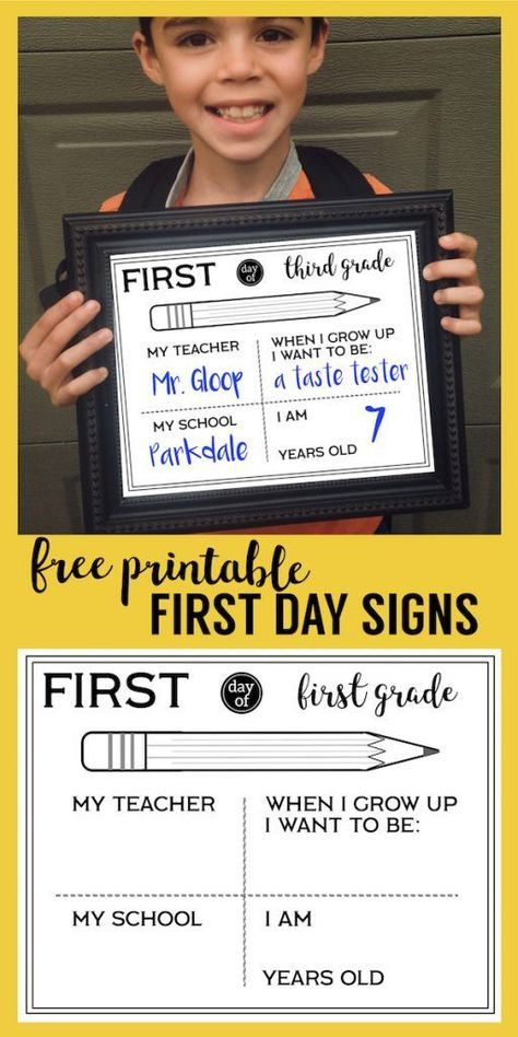 Free Printable First Day of School All About Me Sign #firstdayofschoolsign