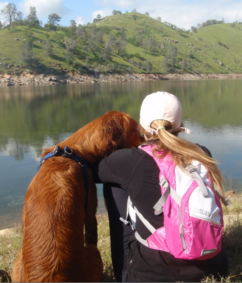 Briana and her dog, Bailey. Click the picture to read her