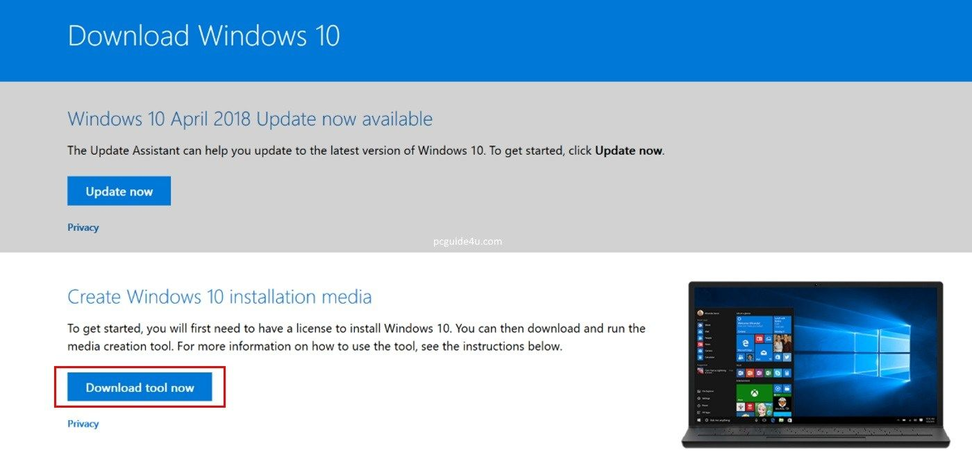 Download Windows 10 Media Creation Tool - Create Bootable
