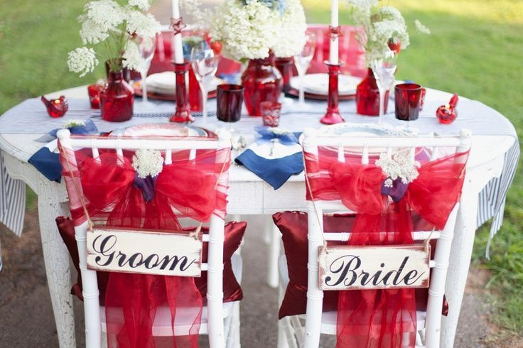 Red White and Blue Wedding Ideas | Celebrate Your Wedding Day on the ...