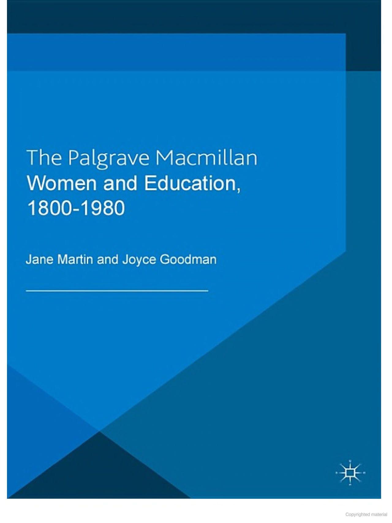 women and education 1800 1980 jane martin joyce goodman google