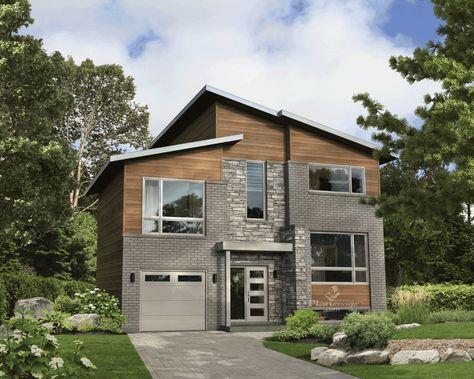 Cette maison à étage affiche une architecture typiquement urbaine