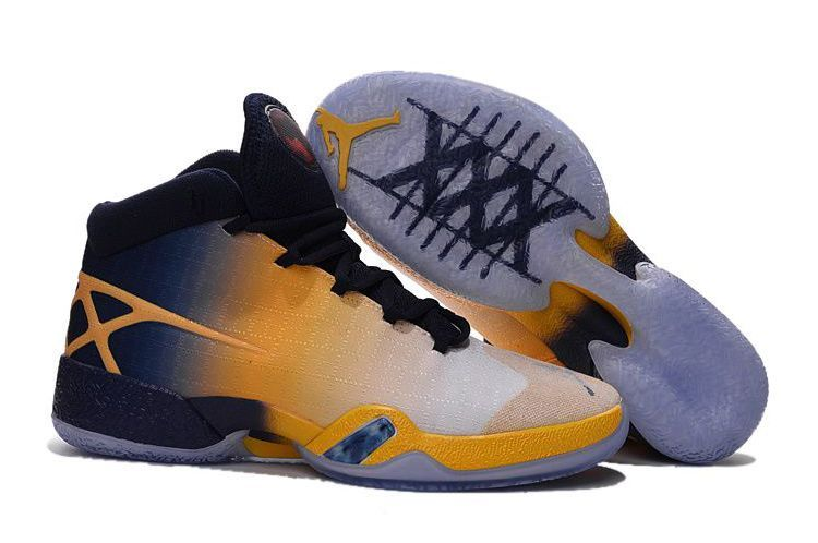 Air Jordan 30 XXX Cal Golden Bears White-Navy/Yellow 2016,Discount shoes