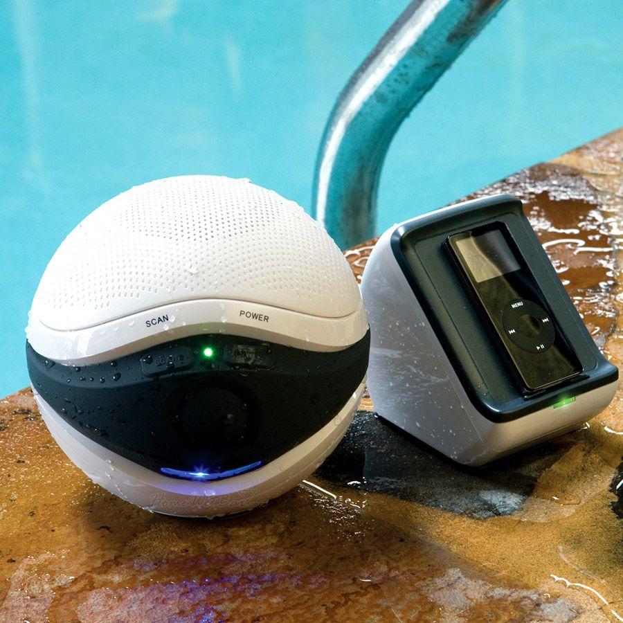 Pool jam waterproof ipod ready wireless speaker set in - Waterproof speakers for swimming pools ...
