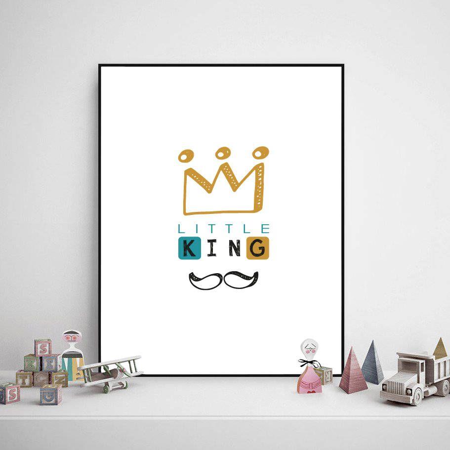 Little King Printable Kid Poster Print For Boy Kid Room Poster