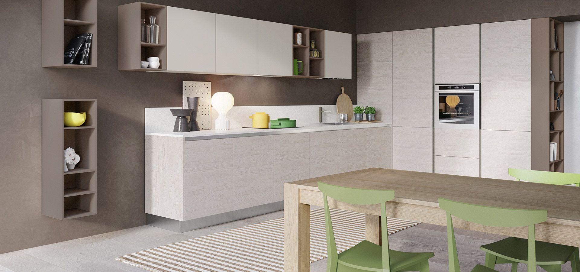 Cucina Moderna - Cloe Finitura Rovere Atlanta | Pensili Perla ...