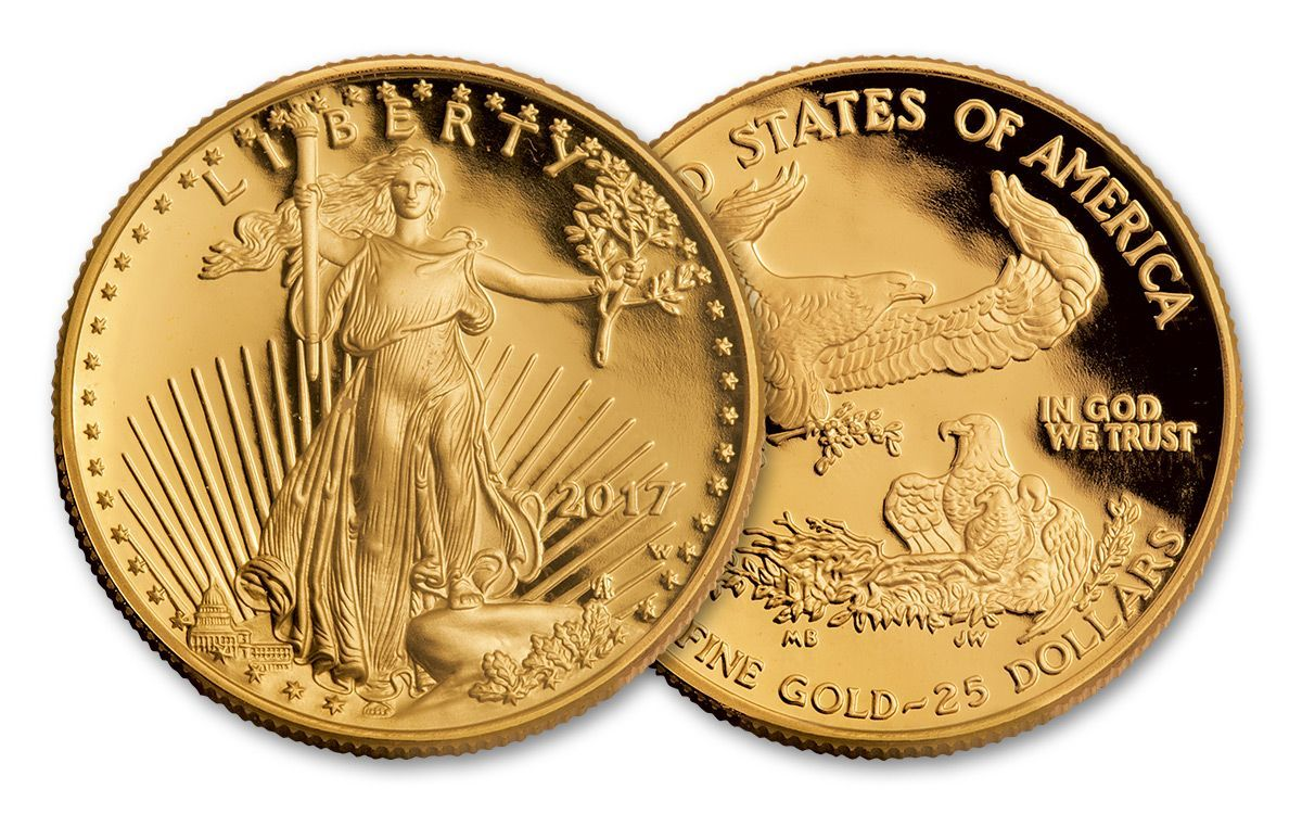 2017 W 25 Dollar 1 2 Oz Gold Eagle Proof Coin