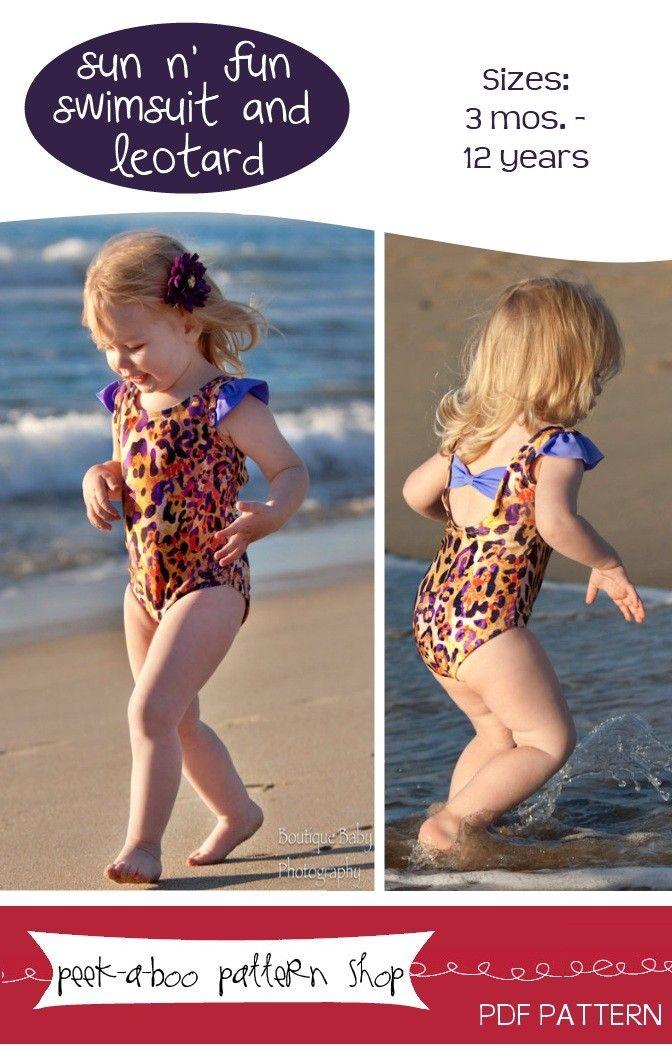 Sun n\' Fun Swimsuit and Leotard Downloadable Sewing Pattern by Peek ...