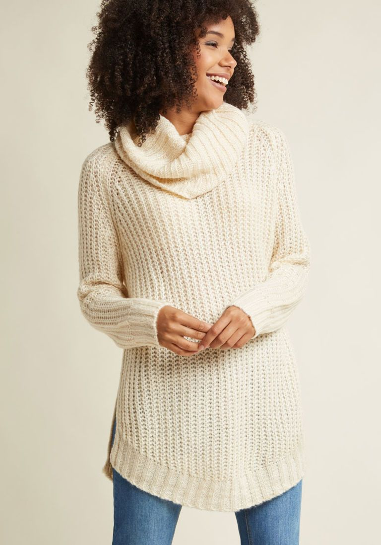 Homecoming 'Round the Mountain Sweater in Creme | Homecoming ...