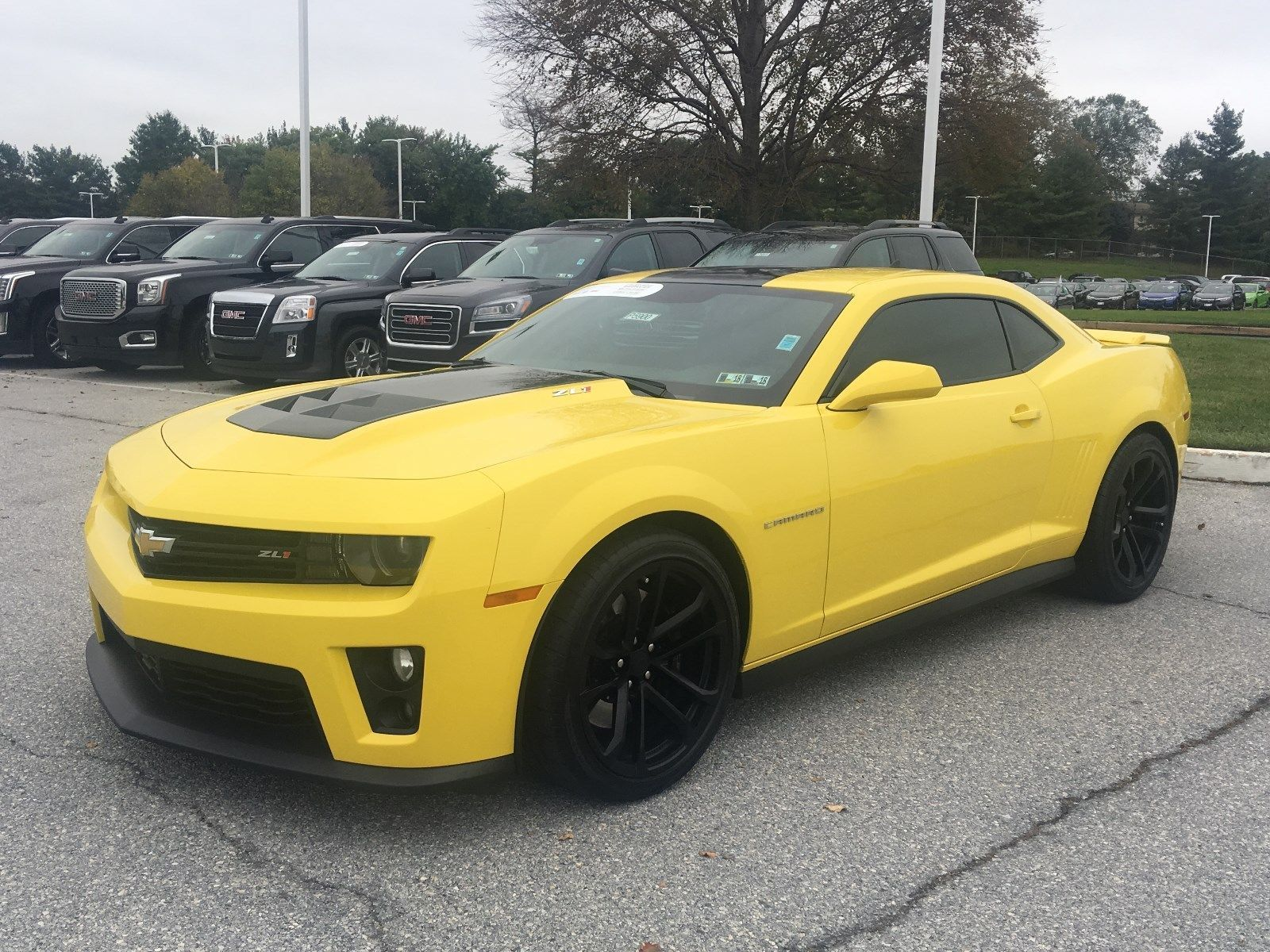 2015 Chevrolet Camaro Zl1 Bright Yellow Chevy Camaro Zl1 6 2 Super Charged V8 Auto Trans Gm Certified 2017 2018